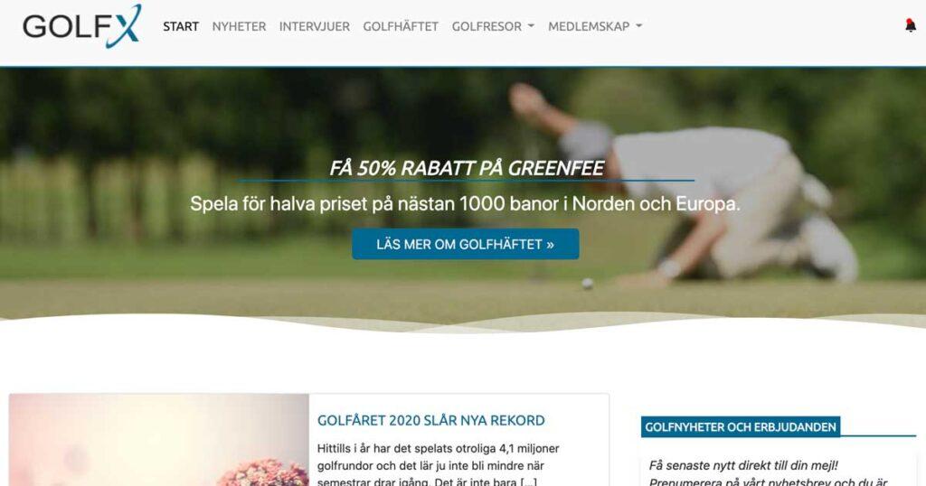 Golfx.se Startsida